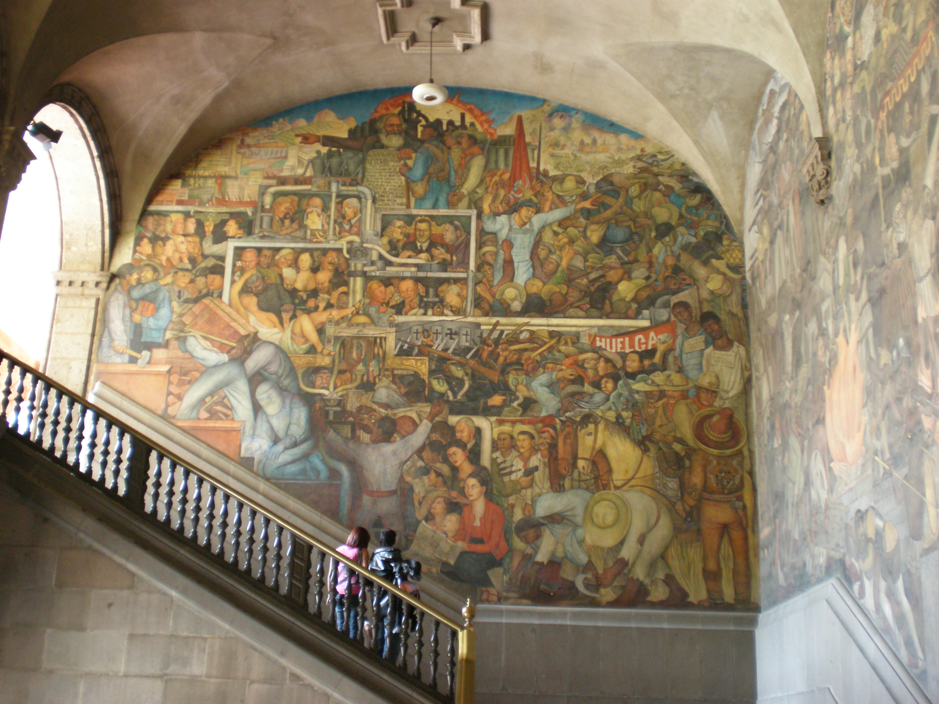 The current season diego rivera murals for the museum of for Diego riveras mural